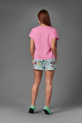 Женская пижама ЖП 022 (T) (Розовый_принт пончики) (Фото 2)