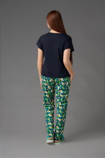 Женская пижама ЖП 010/6 (T) (Тёмно-синий_принт авокадо) (Фото 2)