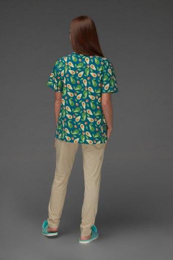 Женская пижама ЖП 024/5 (T) (Бежевый_авокадо) (Фото 2)