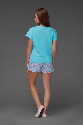 Женская пижама ЖП 022 (T) (Голубой_принт единороги) (Фото 2)