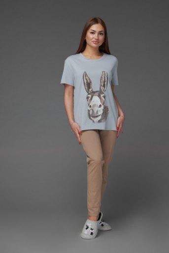 Женская пижама ЖП 024/6 (T) (Серый_какао) - Злата