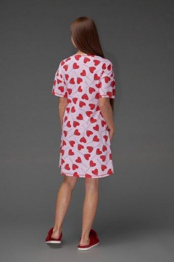 Женская сорочка ЖС 029 (T) (Принт леденцы-сердечки) (Фото 2)
