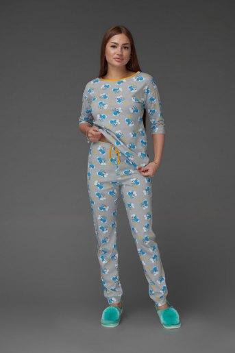 Женская пижама ЖП 044 (T) (Принт панда на облаке) - Злата