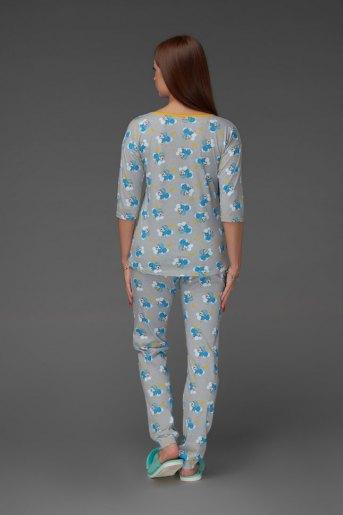 Женская пижама ЖП 044 (T) (Принт панда на облаке) (Фото 2)