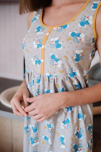 Женская сорочка ЖС 030 (T) (Принт панда на облаке) (Фото 2)
