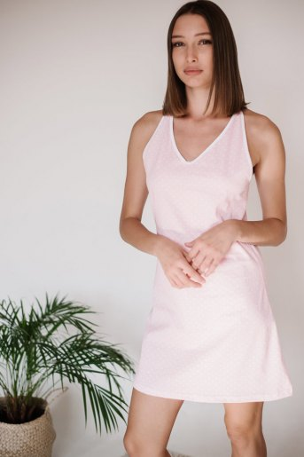 Женская сорочка ЖС 031 (T) (Горох на розовом) - Злата