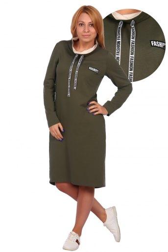 Арт.42П-120 Платье женское (Хаки) - Злата