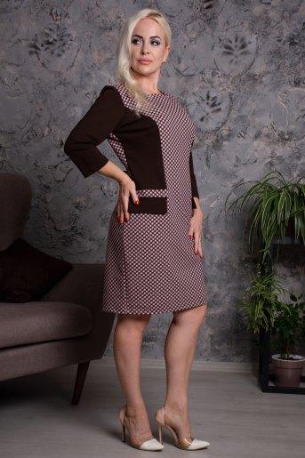 Платье Грация (N) (Шоколад) - Злата