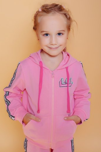 Толстовка 22730 детская (N) (Розовый) - Злата