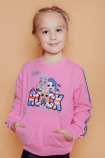 Свитшот 22724 детский (N) (Розовый) - Злата