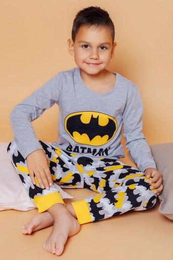 Пижама 22734 детская (N) (Серый меланж) - Злата