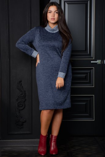 Платье 13365 (N) (Синий) - Злата