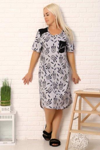 Платье 15052 (N) (Серый) - Злата