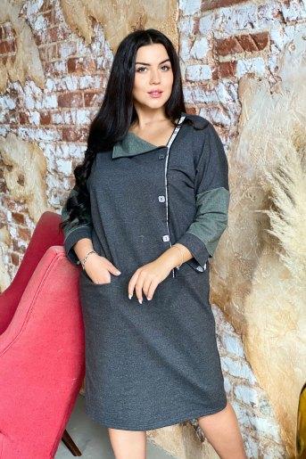 Платье 9001 (N) (Серый) - Злата