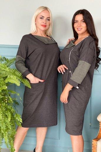 Платье 9001 (N) (Серый) (Фото 2)