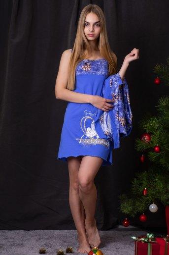 Сорочка 7189 (N) (Голубой) - Злата