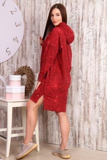 Платье 15066 (N) (Бордовый) (Фото 2)