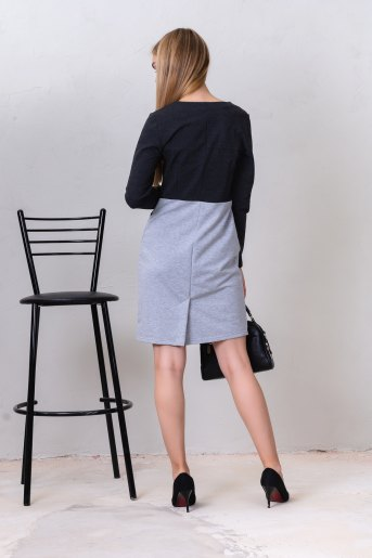 Платье 10819 (N) (Серый) (Фото 2)