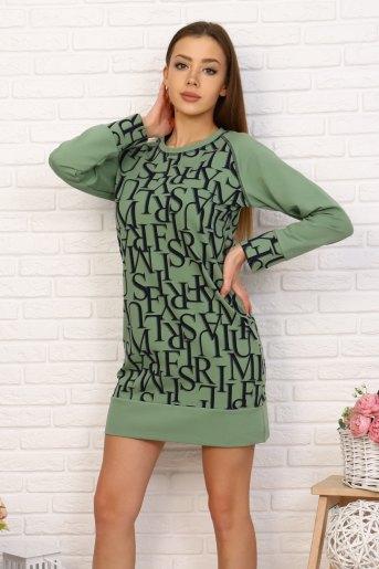 Платье 2397 (N) (Фисташковый) - Злата