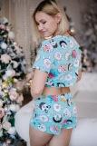 Женская пижама ЖП 049 (T) (Мятный_принт пончики) (Фото 3)