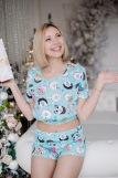 Женская пижама ЖП 049 (T) (Мятный_принт пончики) (Фото 4)