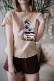 Женская пижама ЖП 022 (T) (Бежевый_шоколадный) (Фото 4)