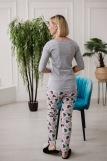 Женская пижама ЖП 057 (T) (Серый_сердечки на мятном) (Фото 4)