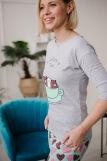 Женская пижама ЖП 057 (T) (Серый_сердечки на мятном) (Фото 5)