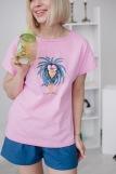 Женская пижама ЖП 022 (T) (Принт синяя птица) (Фото 1)