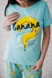 Женская пижама ЖП 058 (T) (Голубой_бананы с горохом) (Фото 2)
