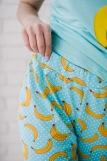 Женская пижама ЖП 058 (T) (Голубой_бананы с горохом) (Фото 5)