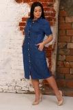 Платье 6955 (N) (Синий) (Фото 3)