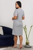Сорочка Сайрес (N) (Серый-меланж) (Фото 3)