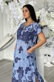 Платье 7227 (N) (Голубой) (Фото 3)
