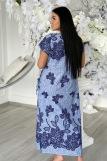 Платье 7227 (N) (Голубой) (Фото 4)