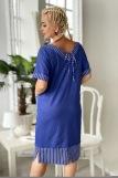 Платье 7221 (N) (Синий) (Фото 4)