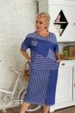 Платье 7219 (N) (Синий) (Фото 2)