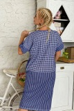 Платье 7219 (N) (Синий) (Фото 3)