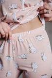 Женская пижама ЖП 061 (T) (Принт заяц) (Фото 5)