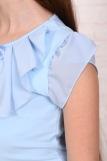 Джемпер Миленушка кор. рукав детский (N) (Светло-голубой) (Фото 3)