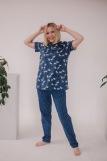 Женская пижама ЖП 063 (T) (Кошки на звездном небе) (Фото 1)