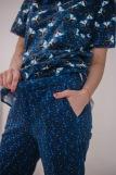 Женская пижама ЖП 063 (T) (Кошки на звездном небе) (Фото 2)