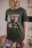 Женская пижама ЖП 024 (T) (Хаки_принт буквы) (Фото 3)