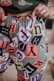 Женская пижама ЖП 024 (T) (Хаки_принт буквы) (Фото 4)