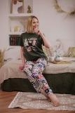 Женская пижама ЖП 024 (T) (Хаки_принт буквы) (Фото 5)