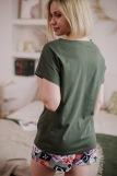 Женская пижама ЖП 022 (T) (Хаки_принт буквы) (Фото 4)