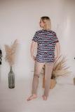 Женская пижама ЖП 024/7 (T) (Принт пес на полосе_какао) (Фото 3)