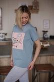 Женская пижама ЖП 024 (T) (Серый_принт на розовом) (Фото 5)