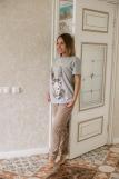 Женская пижама ЖП 024/6 (T) (Серый_какао) (Фото 3)
