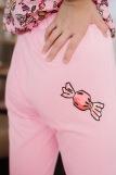 Женская пижама ЖП 024/8 (T) (Розовый _ принт круассаны) (Фото 3)